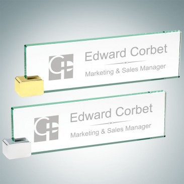 Nameplate with Rectangle Holder