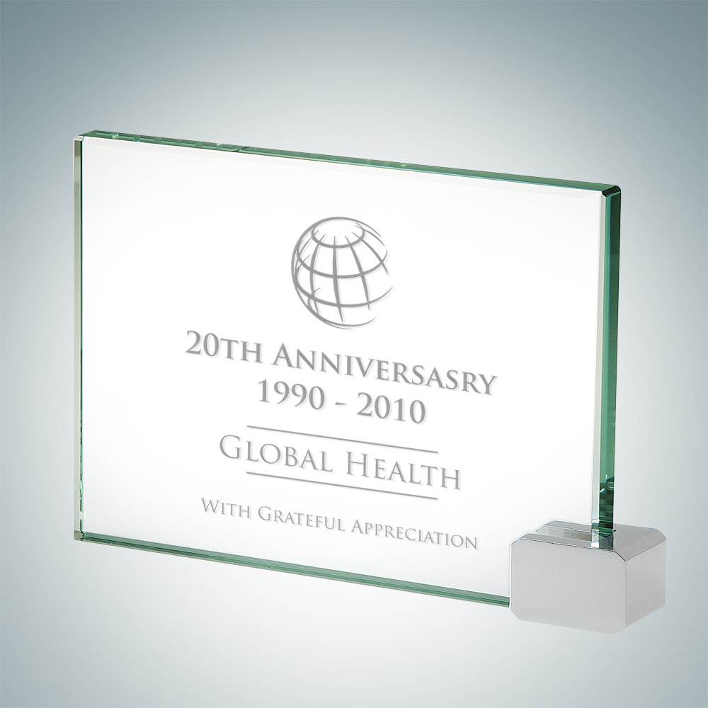 Achievement Award with Chrome Rectangle - Medium