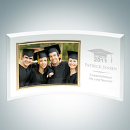 Jade Glass Graduation Curved Horizontal Gold Photo Frames
