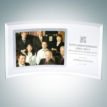 Corporate Curved Horizontal Silver Photo Frame