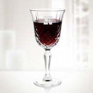Set of 6 Engraved Molten Glass Diamax Masquerade Wine Glasses