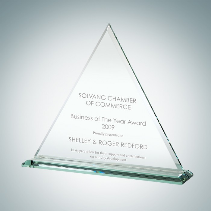 Triangle Mountain Jade Glass Triangle Award CrystalPluscom