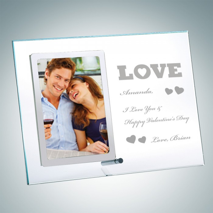 Vertical Stainless Photo Frame w