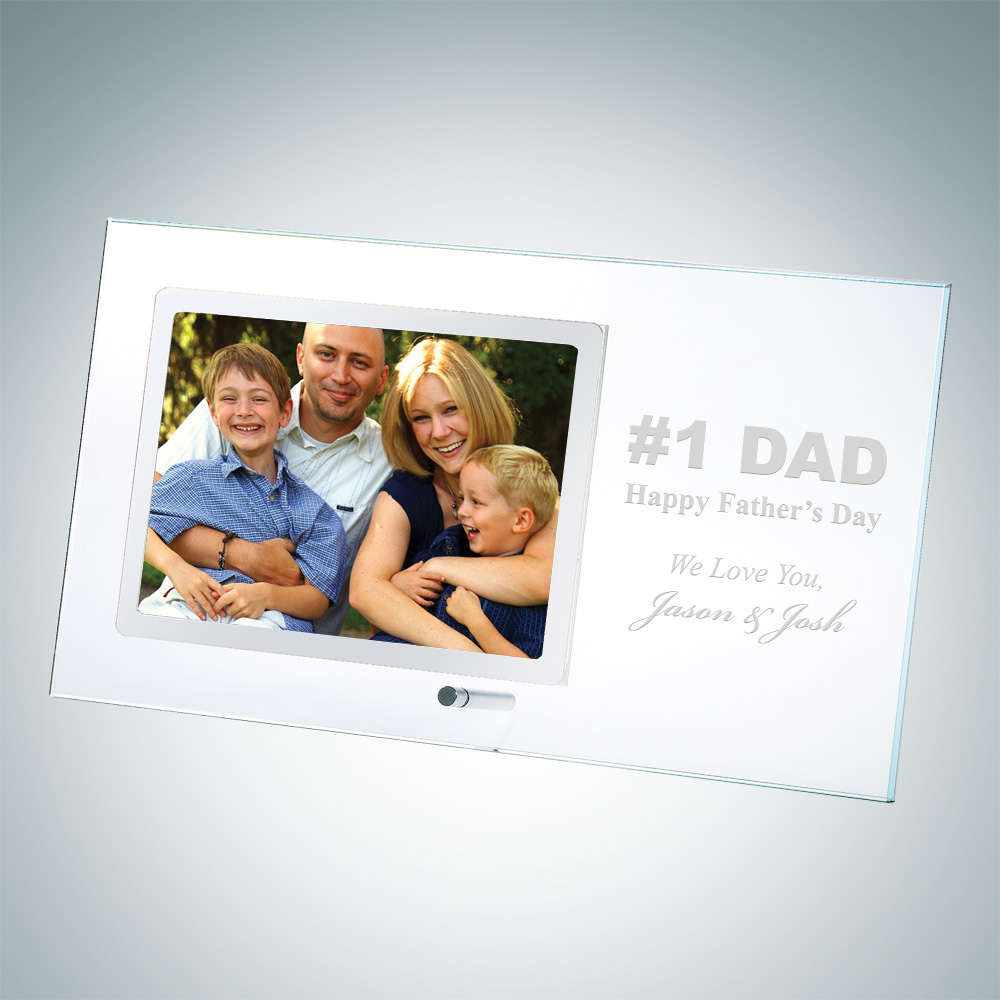 Horizontal Silver Christmas Photo Frame 3.5 x 5 with Pole