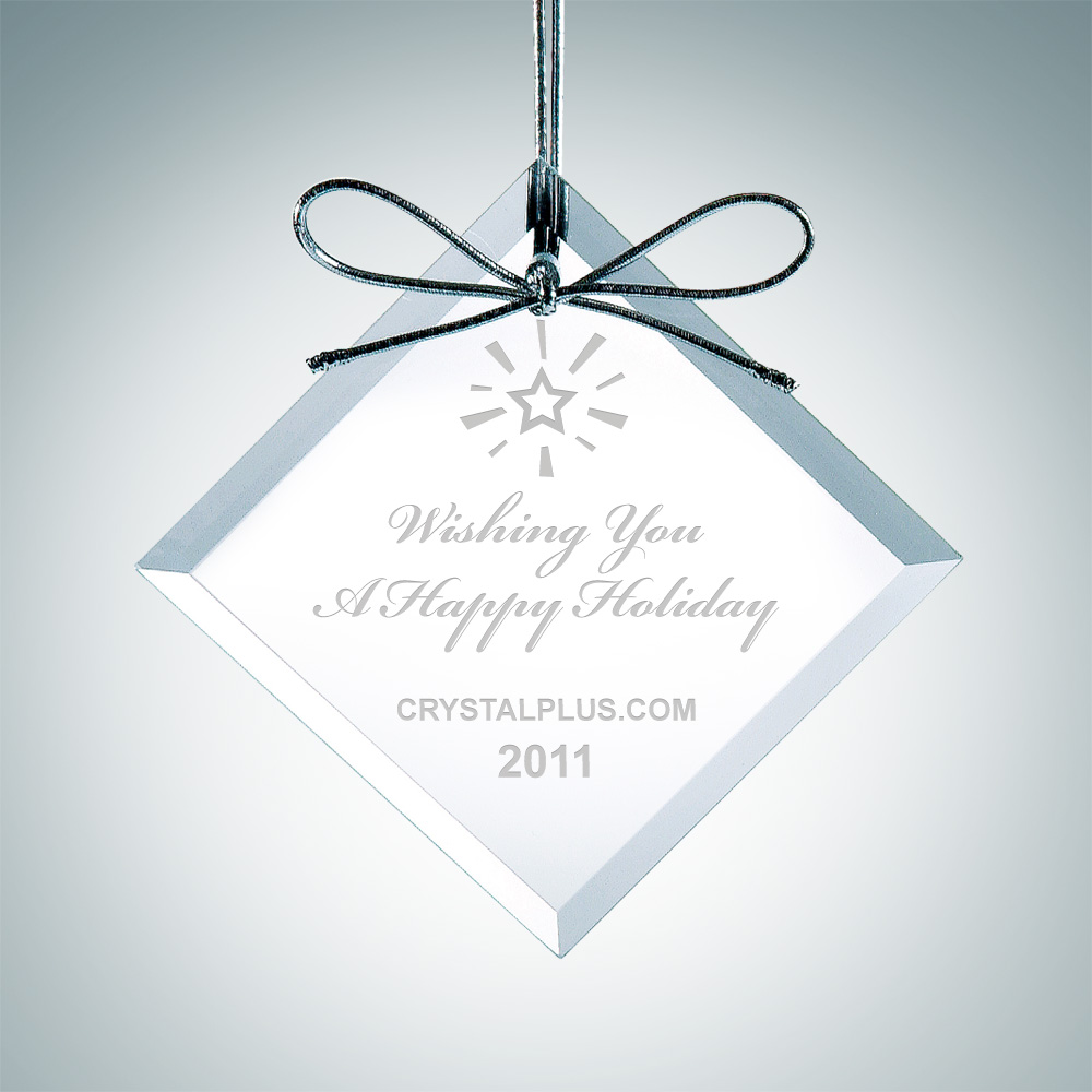 Premium Square Diamond Ornament