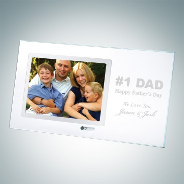 Horizontal Stainless Photo Frame with Silver Pole