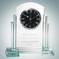 Caesar Engraved Jade Crystal Clocks