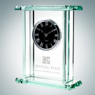 Palace Engraved Jade Crystal Clocks