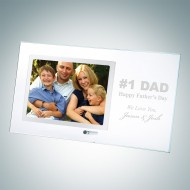 Horizontal Stainless Father's Day Photo Frame with Silver Pole