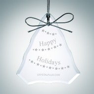 Engraved Clear Glass Premium Tree Christmas Tree Ornaments