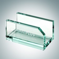 Engraved Jade Crystal Business Card Holder