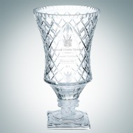 Engraved Francesco Crystal Vase