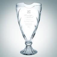 Engraved Florence Crystal Vase