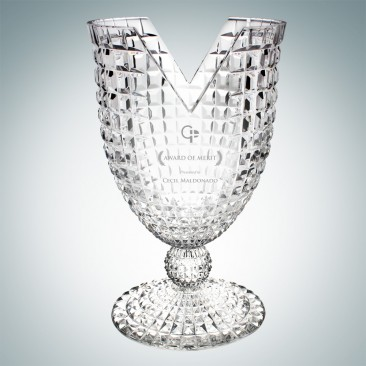 V-Lux Championship Vase | Handcut, Made in Italy