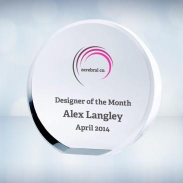 Color Imprinted Beveled Circle Award
