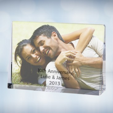 Color Imprinted Horizontal Rectangle Photo Plaque