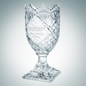 Royal Crown Vase | Hand Cut
