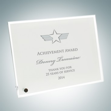 White Horiz./Verti. Chroma Award Plaque