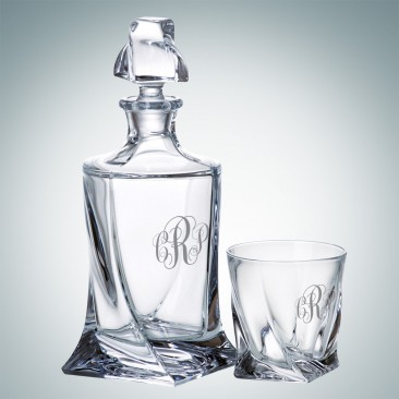 Crystalite Quadro Decanter and OTR Glass