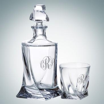Crystalite Quadro Decanter and OTR Glass