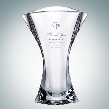 Crystalite Orbit Flair Vase