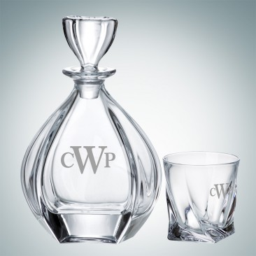 Crystalite Laguna Decanter and OTR Glass