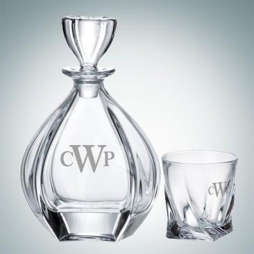 Crystalite Laguna Decanter and OTR Glass