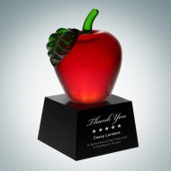 Red Apple with Black Crystal Base