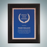 High Gloss Black Wall Plaque - Blue Victory Plate