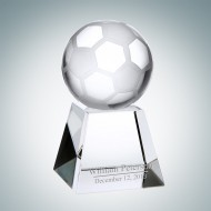 Optical Crystal Soccer Ball with Engraved Short Base